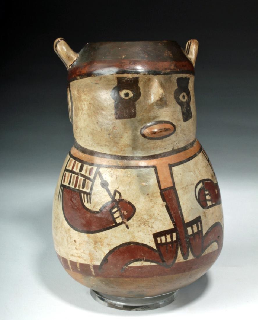 Nazca Pottery Polychrome Figural Vessel - Shaman
