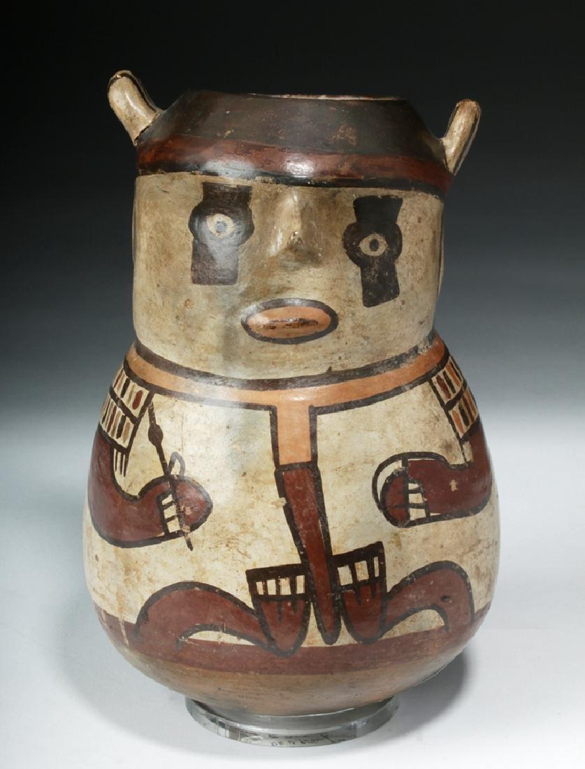 Nazca Pottery Polychrome Figural Vessel - Shaman - 2