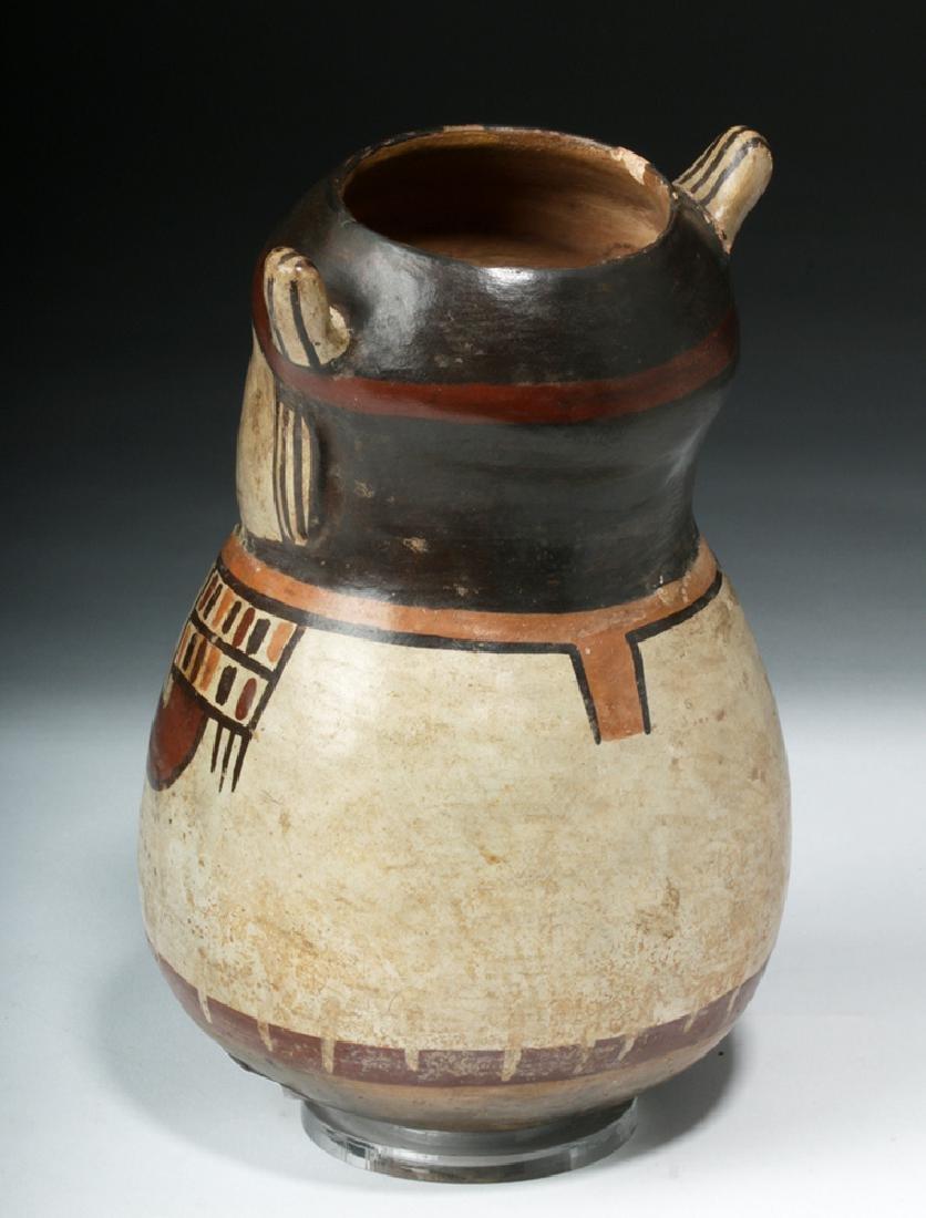 Nazca Pottery Polychrome Figural Vessel - Shaman - 3