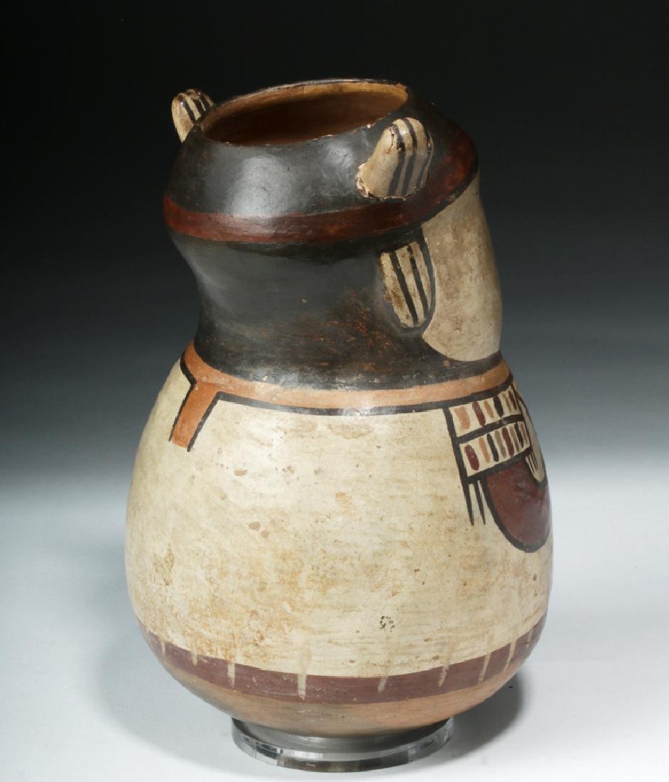 Nazca Pottery Polychrome Figural Vessel - Shaman - 4