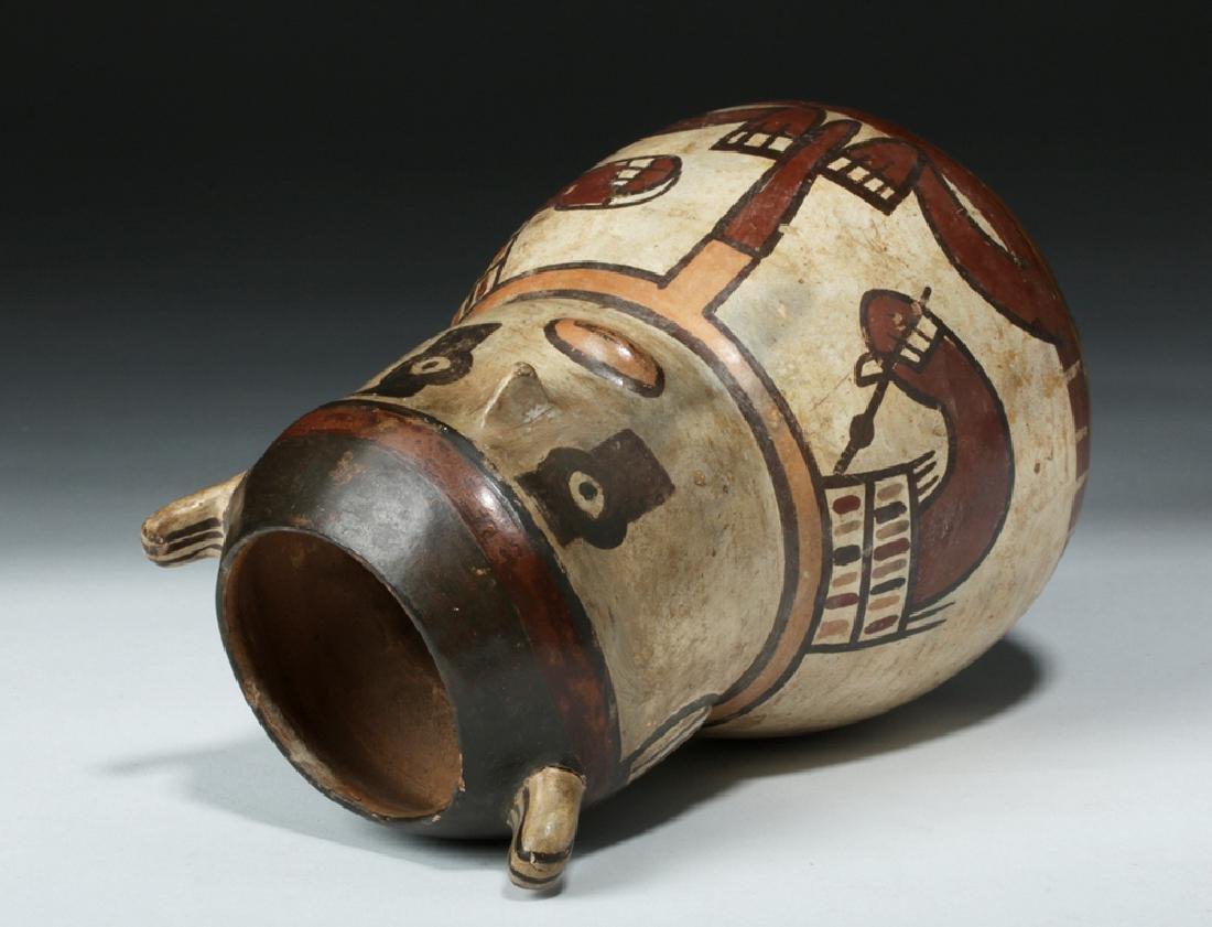 Nazca Pottery Polychrome Figural Vessel - Shaman - 6