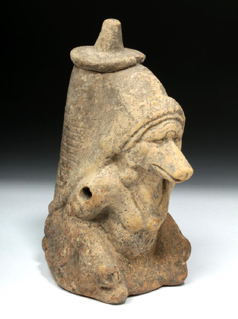 Mayan Pottery Whistle - Human-Body God