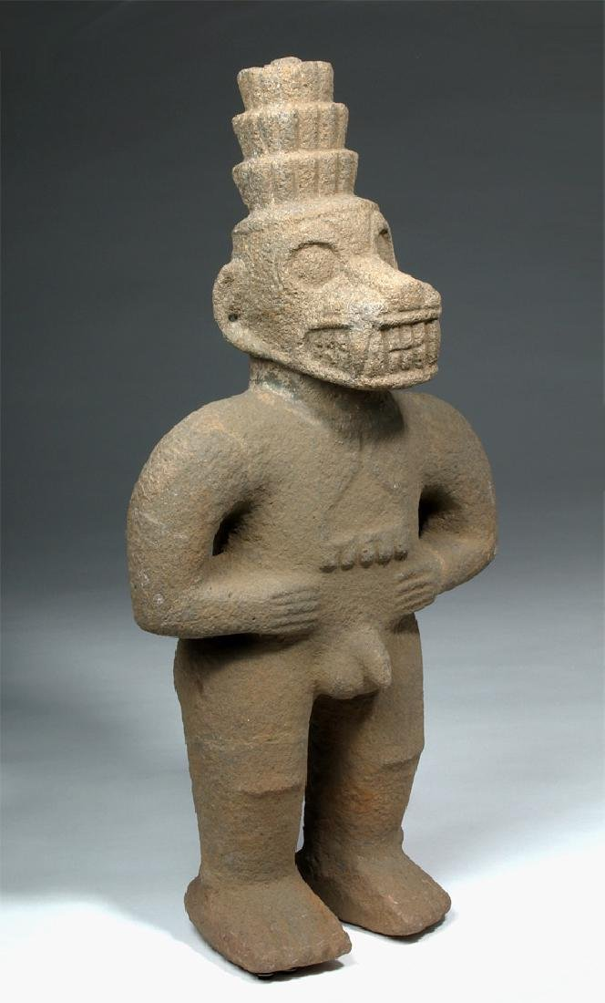 Costa Rican Stone Standing Monkey God - Ex Stendahl
