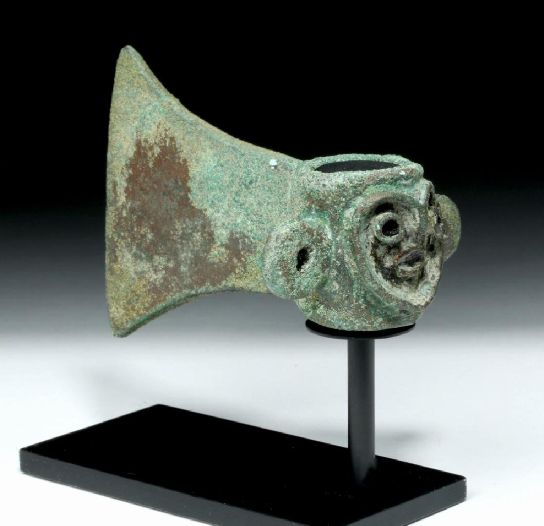Rare Incan Ceremonial Copper Axe - Monkey Socket