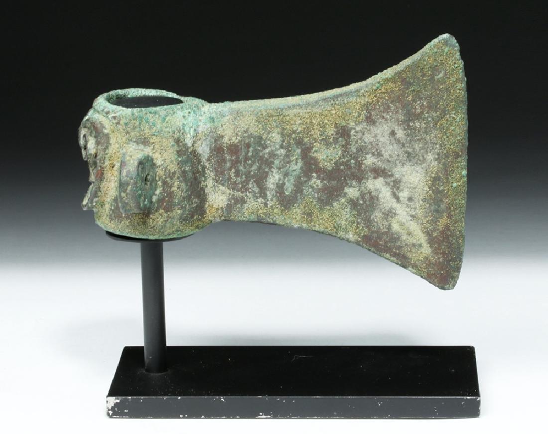 Rare Incan Ceremonial Copper Axe - Monkey Socket - 3