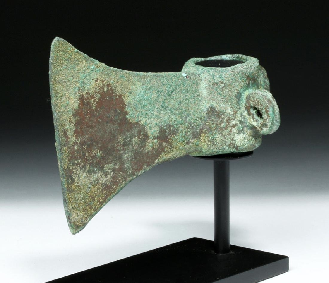 Rare Incan Ceremonial Copper Axe - Monkey Socket - 5