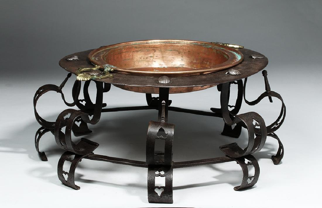 17th C. Spanish Iron Brazier, ex-Sotheby's - 2