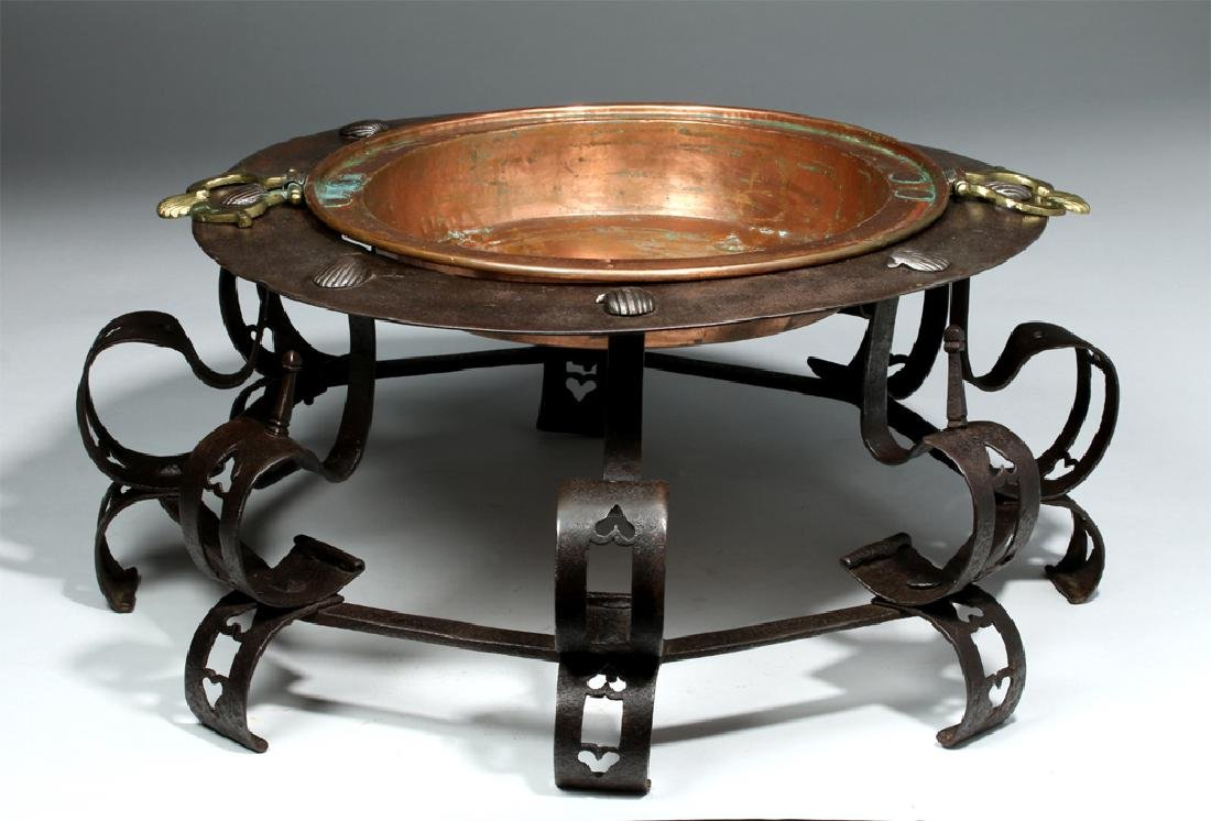 17th C. Spanish Iron Brazier, ex-Sotheby's - 3