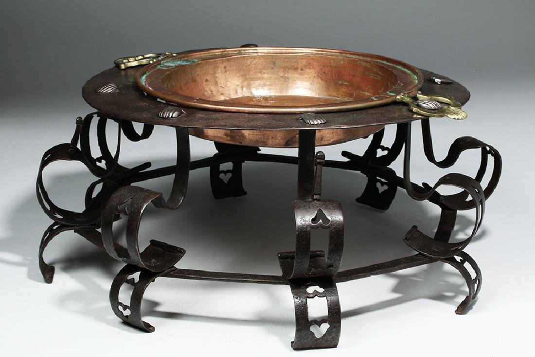 17th C. Spanish Iron Brazier, ex-Sotheby's - 5