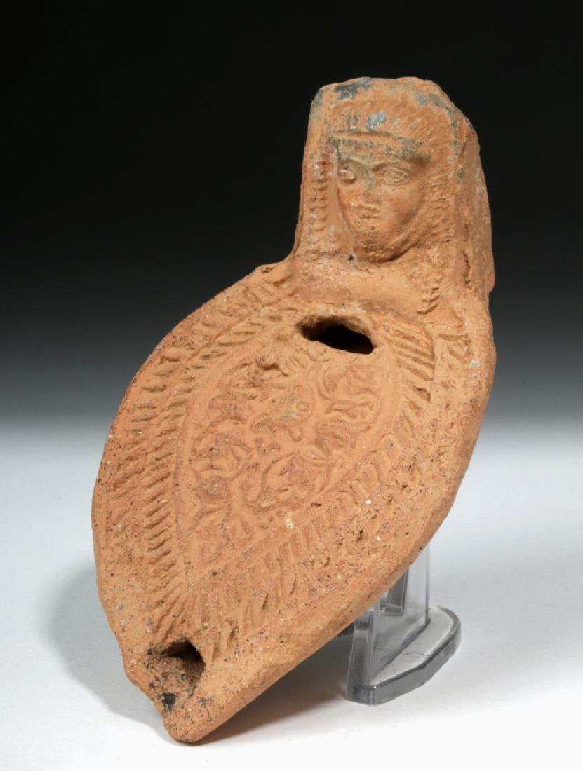 Romano Egyptian Erotic Terracotta Oil Lamp