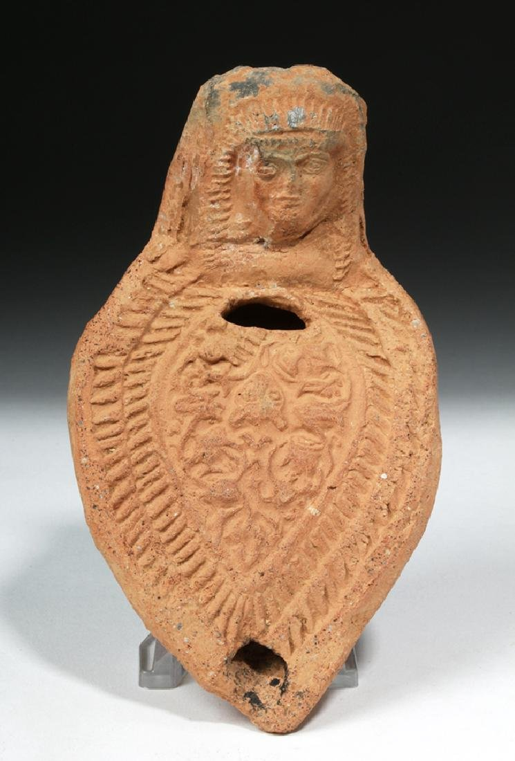 Romano Egyptian Erotic Terracotta Oil Lamp - 2