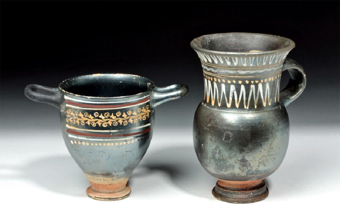 Greek Gnathian Thistle Mug & Skyphos