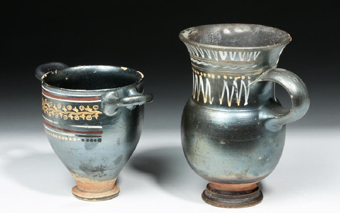 Greek Gnathian Thistle Mug & Skyphos - 2