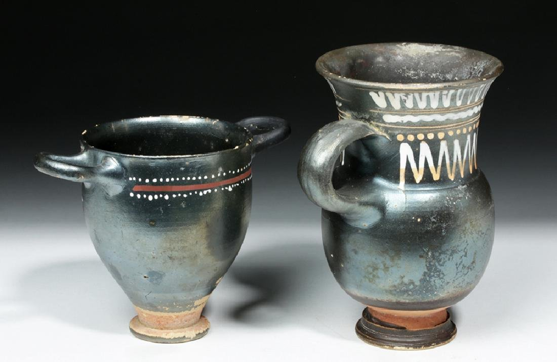 Greek Gnathian Thistle Mug & Skyphos - 3