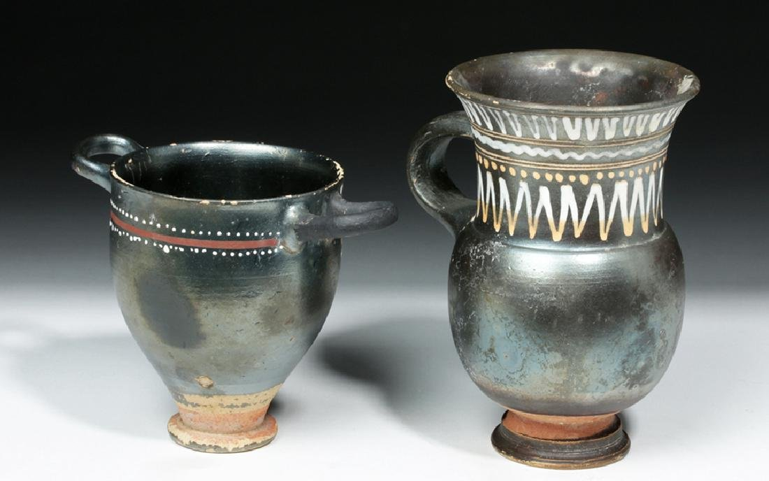 Greek Gnathian Thistle Mug & Skyphos - 4