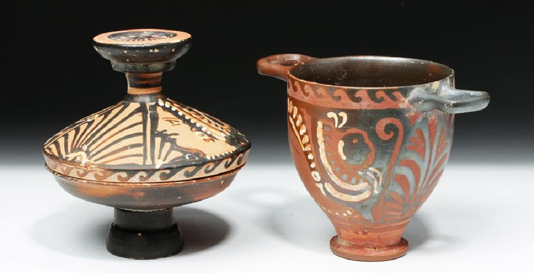 Pair of Greek Apulian Lady of Fashion Vessels - 4