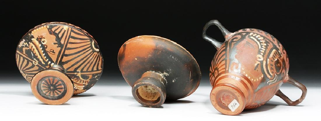 Pair of Greek Apulian Lady of Fashion Vessels - 7