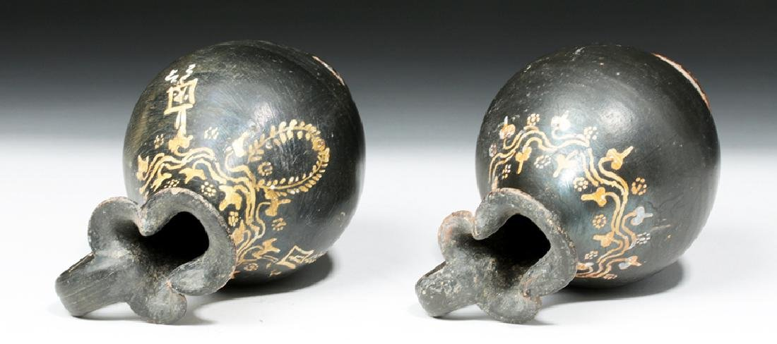 Pair of Greek Gnathian Pottery Oinochoes - 5