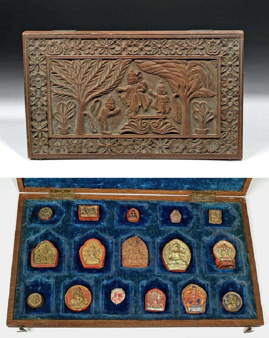 Sino-Tibetan Clay Monk Tsa Tsa Tablets, ex-Sotheby's