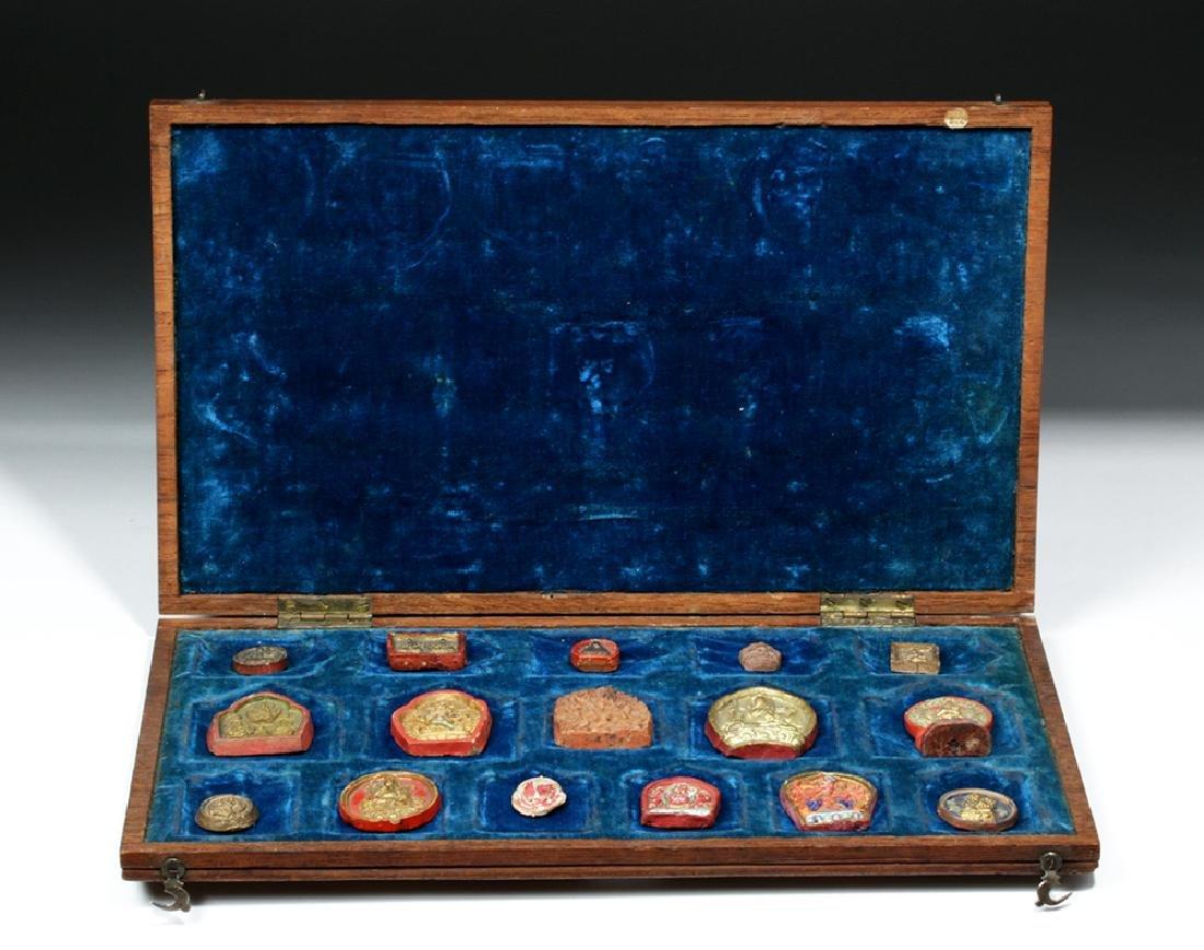 Sino-Tibetan Clay Monk Tsa Tsa Tablets, ex-Sotheby's - 4
