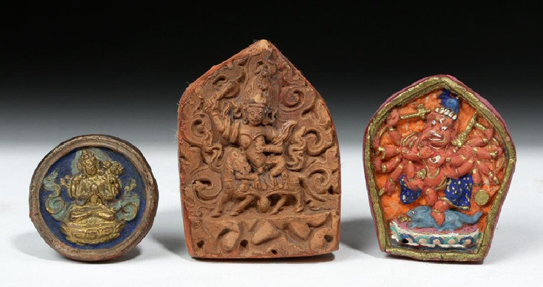 Sino-Tibetan Clay Monk Tsa Tsa Tablets, ex-Sotheby's - 7