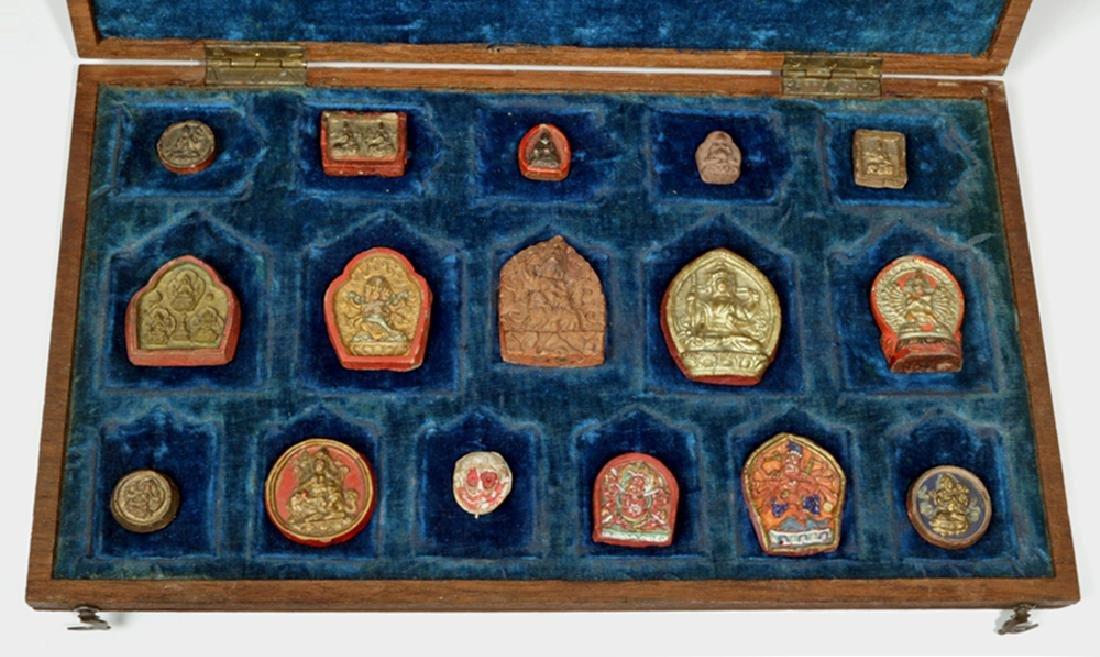 Sino-Tibetan Clay Monk Tsa Tsa Tablets, ex-Sotheby's - 8