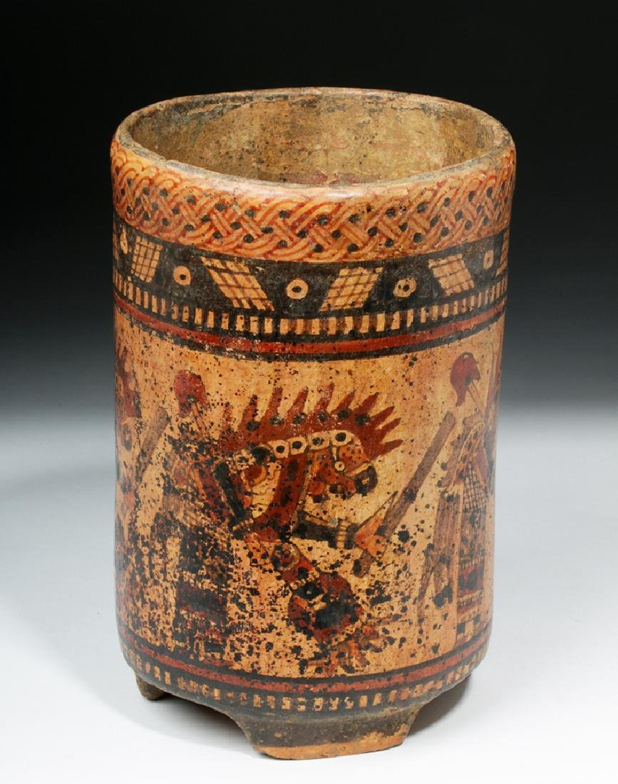 Mayan Ulua Valley Polychrome Cylinder - Dancers - 2