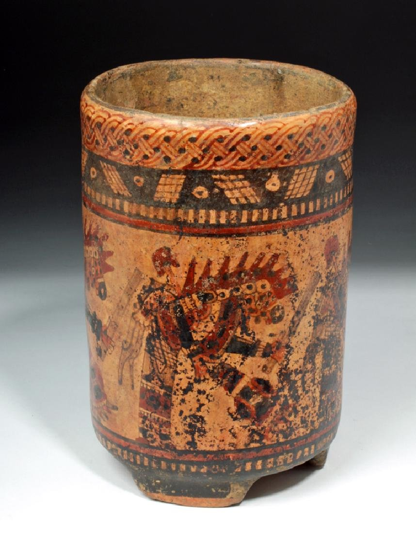 Mayan Ulua Valley Polychrome Cylinder - Dancers - 3