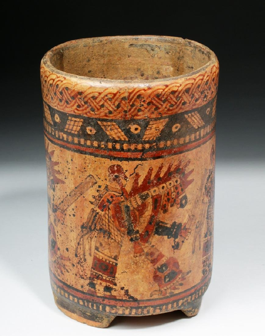 Mayan Ulua Valley Polychrome Cylinder - Dancers - 4