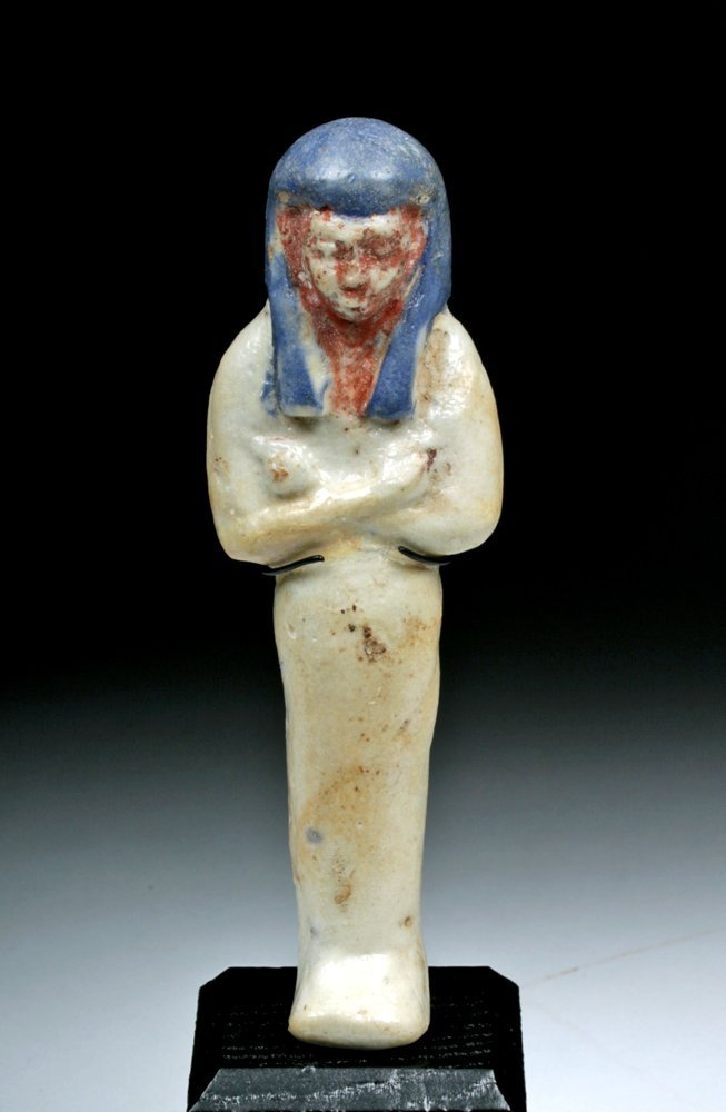 Egyptian New Kingdom Tricolor Faience Shabti