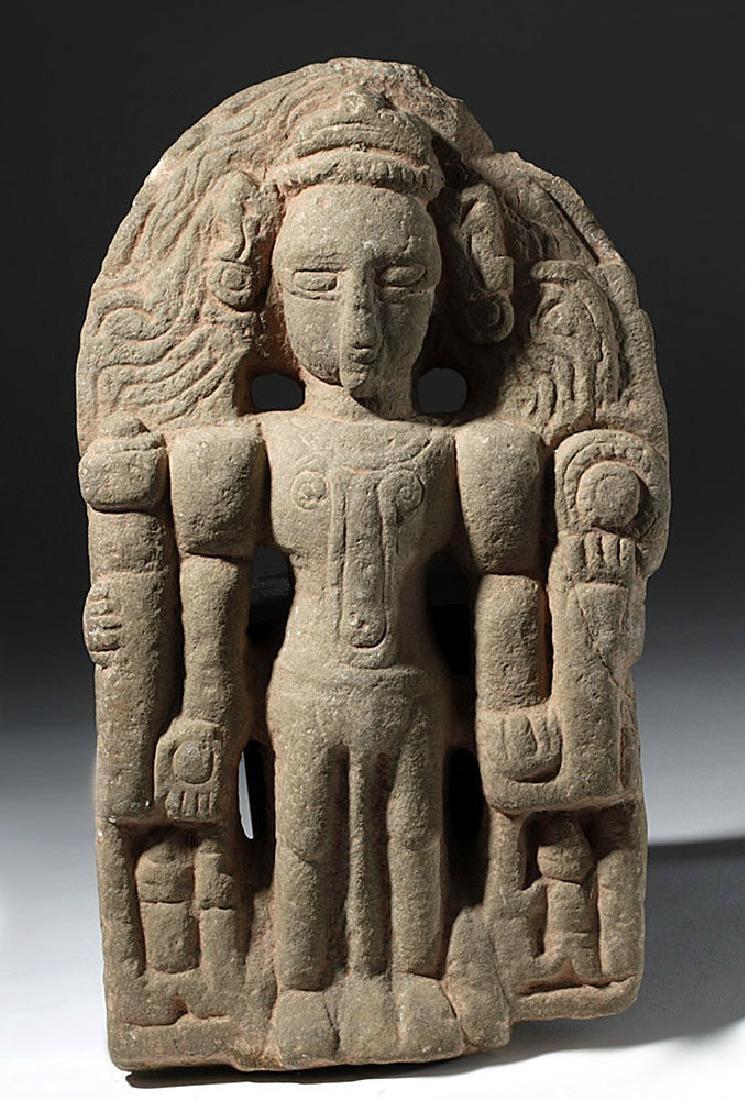 Early Indian Stone Standing Vishnu