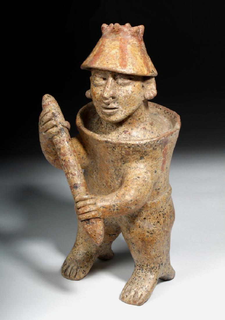 Jalisco Standing Pottery Barrel Warrior w/ Club
