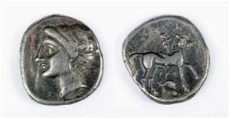 Silver Didrachm from Tarentum  Calabria