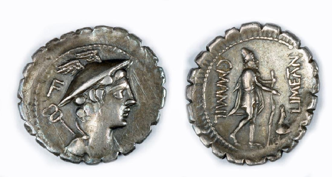 Republican Silver Denarius -  C. Mamilius Limetanus