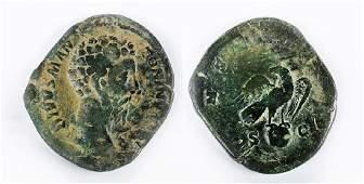 Roman Bronze Sestertius of Marcus Aurelius
