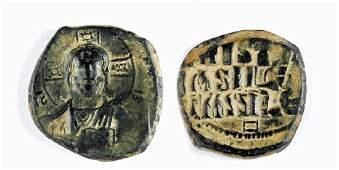 Byzantine Bronze Follis of Basil II and Constantine VII