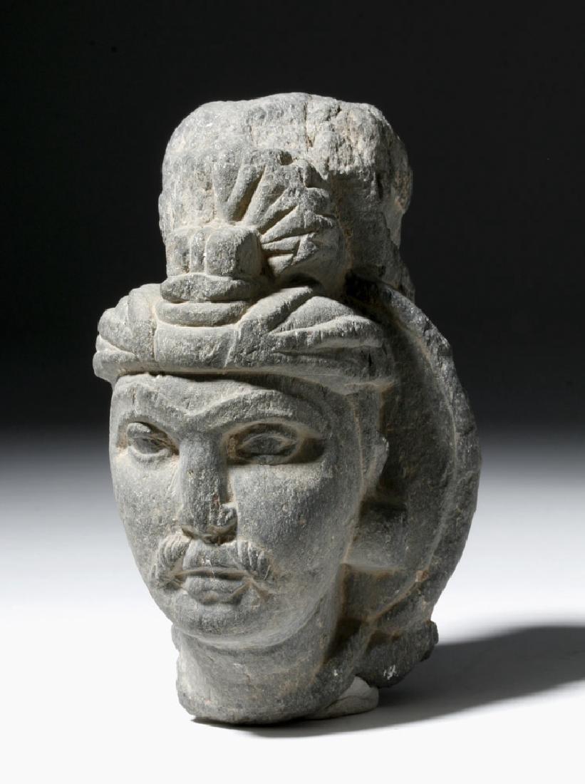 Gandharan Grey Schist Fragment of a Prince