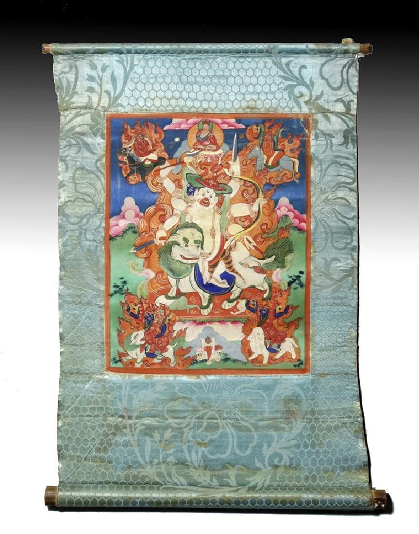 19th C. Tibetan Thangka of Mahakala