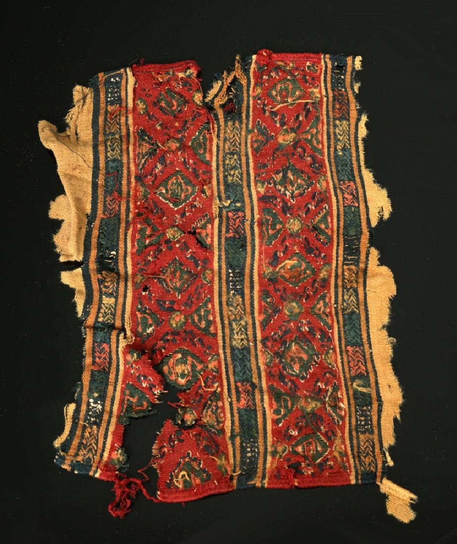 Vivid Egyptian Coptic Textile Section