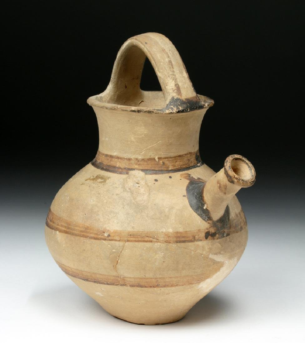 Cypriot Pottery Bichrome Bail Amphora