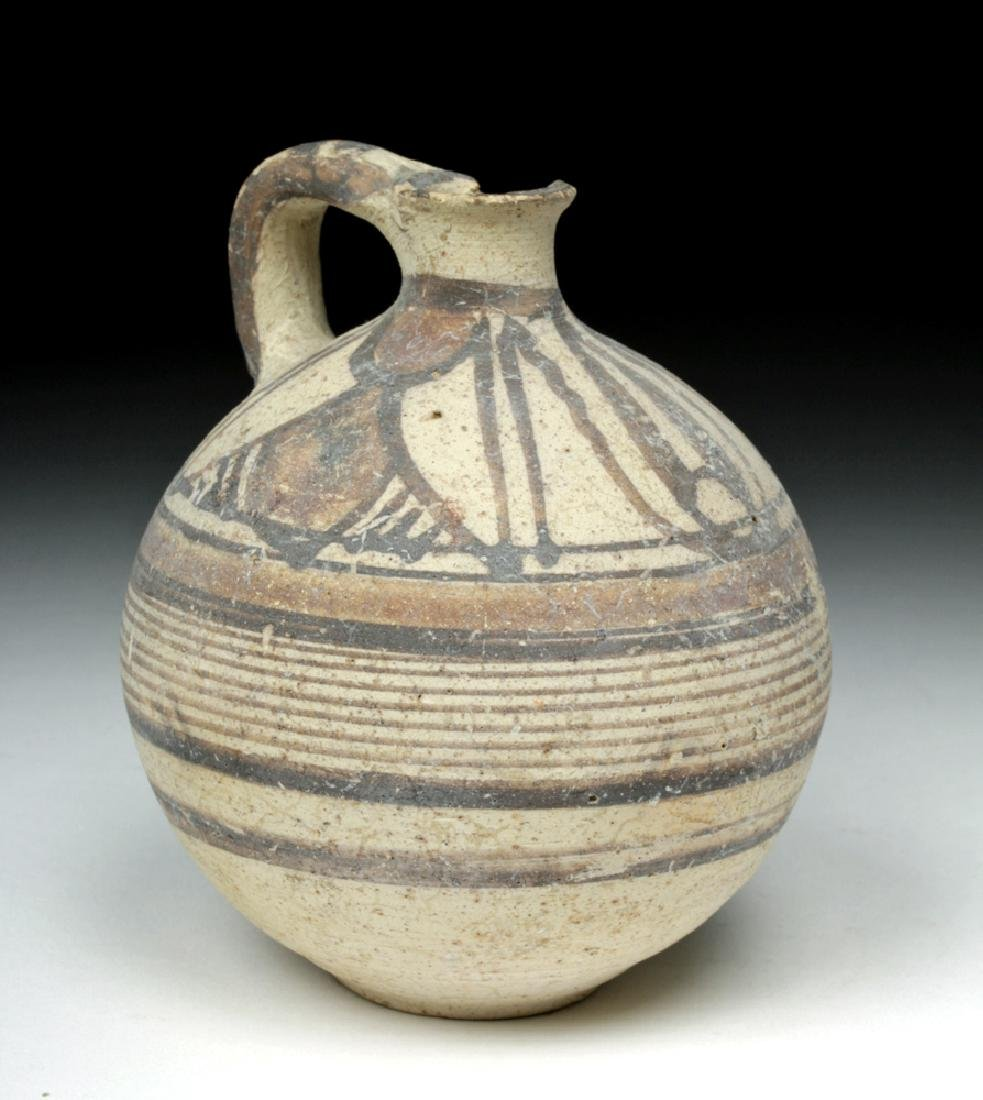 Cypriot Pottery Polychrome Single-Handled Jug