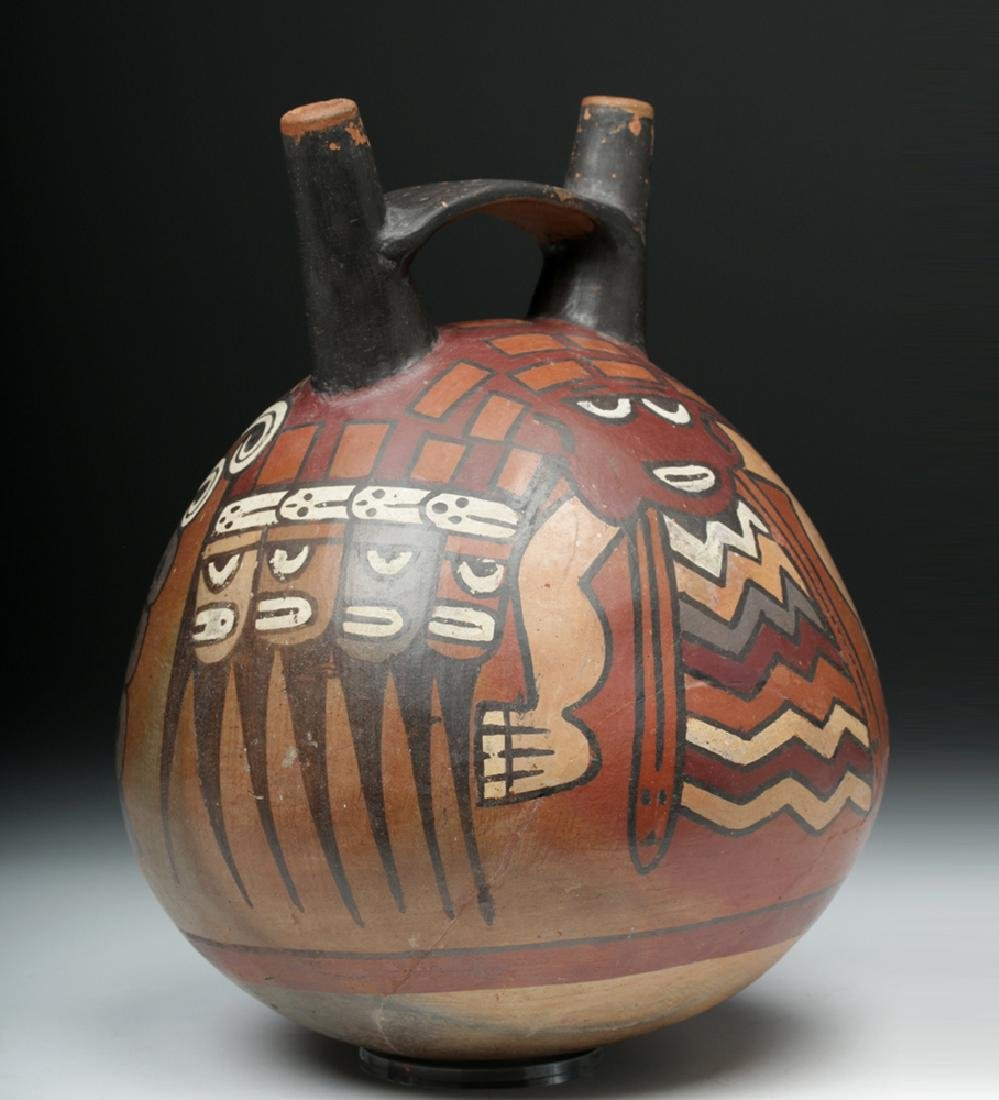 Large Nazca Globular Jar - Serpentine Creature - 3
