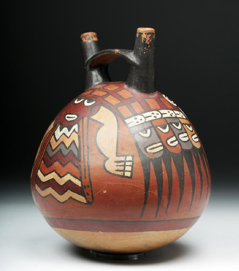 Large Nazca Globular Jar - Serpentine Creature - 4