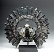 19th C. Spanish Colonial Silver Resplendor Crown