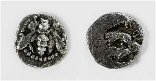 Ionian Ephesus Silver Tetartemorion Coin w Bee