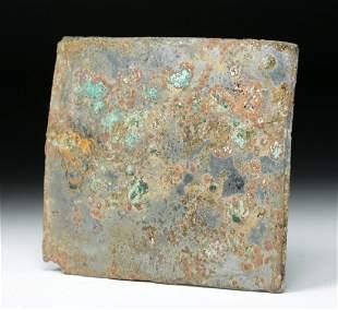 Roman Silvered Bronze Mirror Rectangular