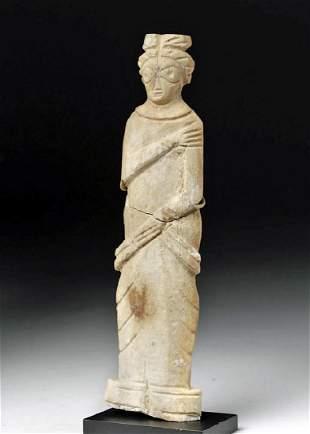 RomanoEgyptian Bone Figural Standing Female