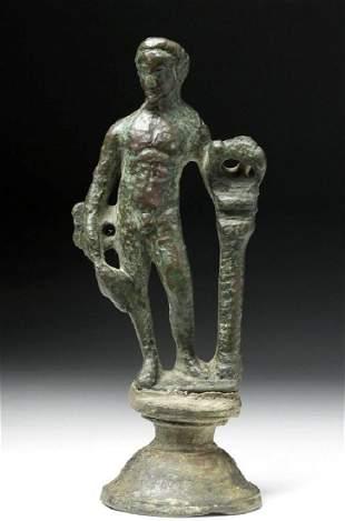 Roman Bronze Statue of a Youthful Mercury