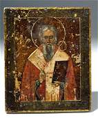 19th C. Russian Icon - St. Nicholas the Miracleworker