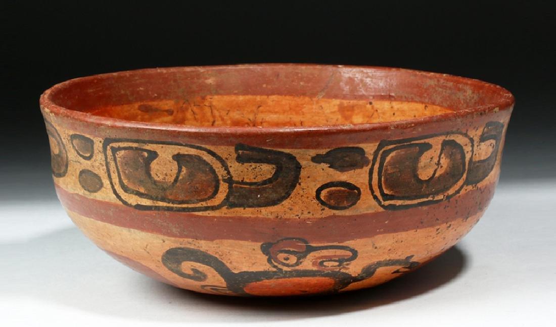 Mayan Copador Polychrome Bowl - Monkeys